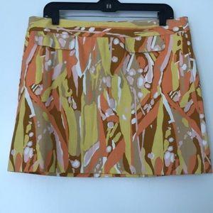 J. Crew Skirt in Lemon Yellow, Orange and Pink